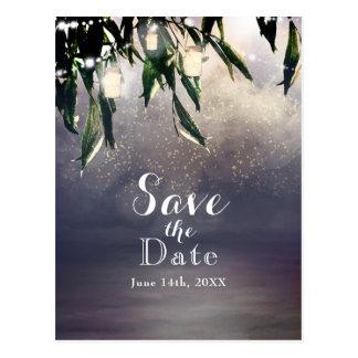 シダレヤナギの木及びメーソンジャーの保存日付 ポストカード