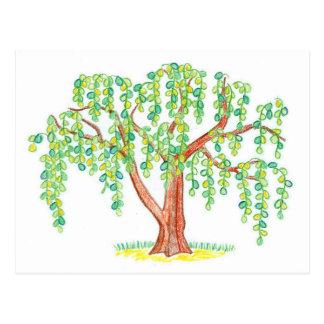 シダレヤナギの芸術 ポストカード