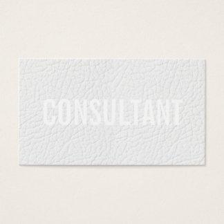 シックでエレガントで模造のな白革の平野のプロフェッショナル 名刺
