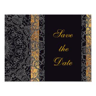 シックでガーリーで黒い花のレース/家のGrosch カード