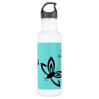 シックでモダンな蝶 ウォーターボトル
