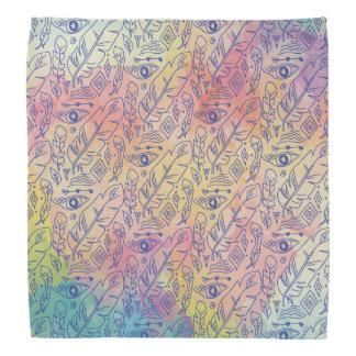 シックで多彩なボヘミアパターン バンダナ