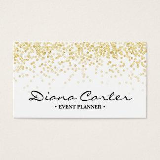 シックで模造のな金ゴールドのグリッターのエレガントな白人のプロフェッショナル 名刺