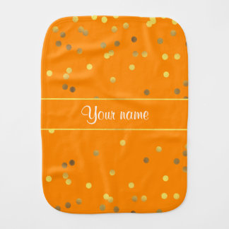 シックで模造のな金ゴールドホイルの紙吹雪のオレンジ バープクロス