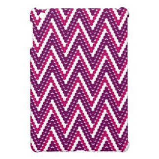 シックで熱狂するなジグザグ形は#1_234紫色に点を打ちます iPad MINIカバー