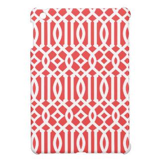 シックで赤いモロッコの格子垣 iPad MINIケース