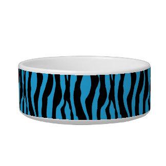 シックで青いシマウマのプリントはモノグラムの一流の皿を真珠で飾ります ボウル