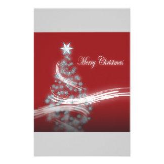 シックなお祝いのクリスマスの常緑のクリスマスツリー 便箋