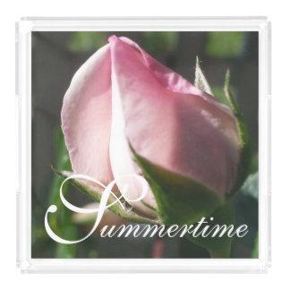 """シックなアクリルTRAY_の""""夏期""""の新しい夜明けのバラのつぼみ アクリルトレー"""