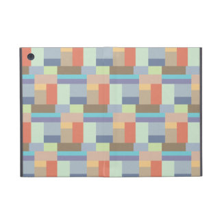 シックなエレガントなレトロの長方形パターン60年代 iPad MINI ケース