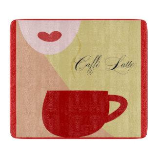 シックなカフェの女の子のまな板 カッティングボード