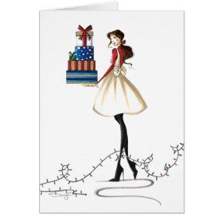 シックなクリスマスの応援 カード
