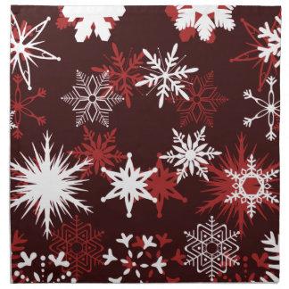 シックなクリスマスの雪片 ナプキンクロス