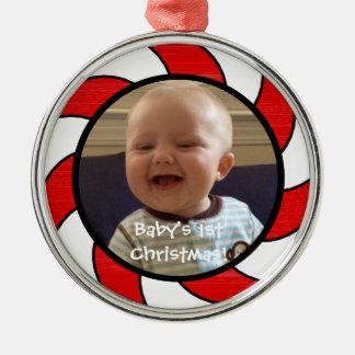 シックなクリスマスORNAMENT_BABY第1のクリスマス! メタルオーナメント