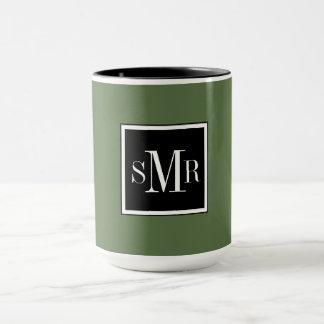 シックなコーヒーMUG_BLACK/WHITE/KALE マグカップ