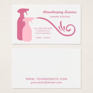 シックなピンクのスプレーは家計サービスをびん詰めにします 名刺