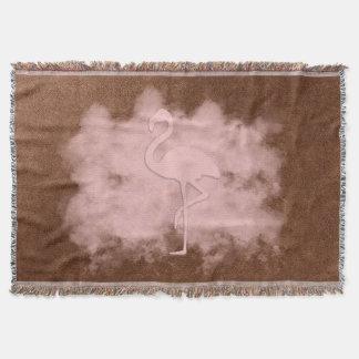 シックなピンクのフラミンゴの雲のブランケット スローブランケット