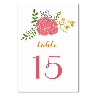 シックなピンクの花の緑は結婚式を残します カード