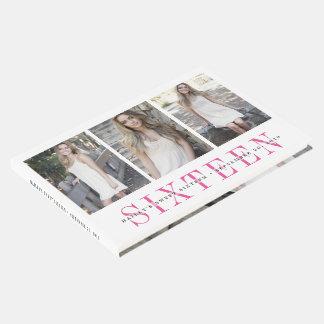シックなピンク及び白いSweet sixteenの写真 ゲストブック