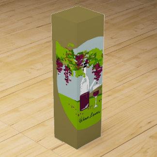 """シックなワインのギフトBOX_の""""ワイン愛好家""""のテーマ ワインギフトボックス"""