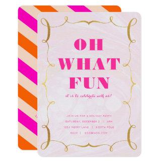 シックな休日のパーティの招待状 カード