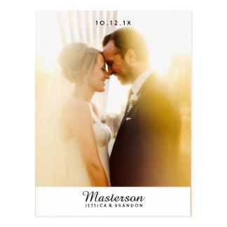シックな写真の結婚式は郵便はがき感謝していしています ポストカード