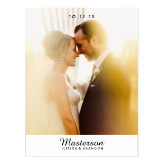 シックな写真の結婚式は郵便はがき感謝していしています 葉書き