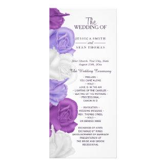 シックな家宝のバラの結婚式プログラム ラックカード
