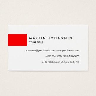 シックな専門の赤く白いプロフィールの名刺 名刺