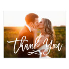 シックな手によって文字を入れられる結婚式は郵便はがき感謝していしています ポストカード