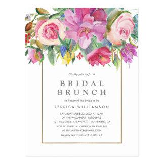 シックな水彩画の花の花嫁のブランチ ポストカード