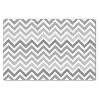 シックな灰色のシェブロンのグラデーションなジグザグパターン 薄葉紙