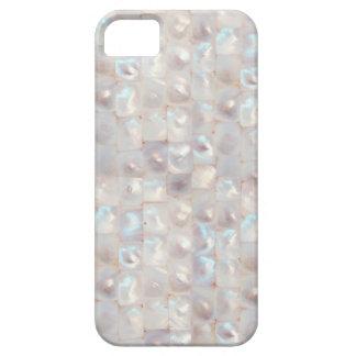 シックな真珠色のエレガントなモザイク模様 iPhone 5 カバー