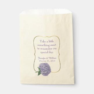 シックな紫色のアジサイのカスタムな結婚式の引き出物のバッグ フェイバーバッグ