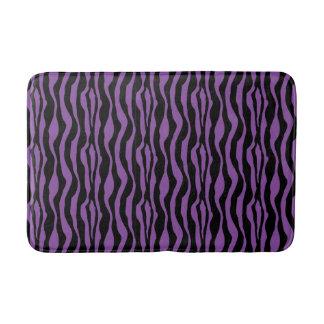シックな紫色のシマウマのプリントのバス・マット バスマット