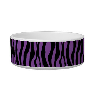 シックな紫色のシマウマのプリントはモノグラムの一流の皿を真珠で飾ります ボウル