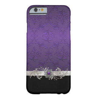 シックな紫色のダマスク織のiPhone6ケース Barely There iPhone 6 ケース