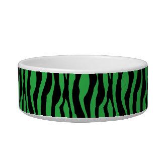 シックな緑のシマウマのプリントはモノグラムの一流の皿を真珠で飾ります ボウル