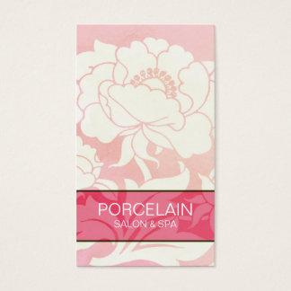 シックな花のピンクの名刺 名刺