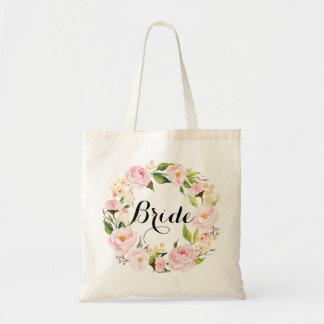 シックな花のリースの花嫁6 トートバッグ