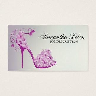 シックな花の小剣の靴のハイヒールポンプ 名刺