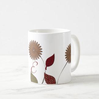 シックな花柄の抽象芸術のモノグラムのなマグ コーヒーマグカップ
