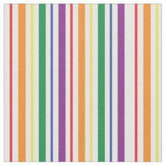 シックな虹のカーニバルのストライプなパターン ファブリック