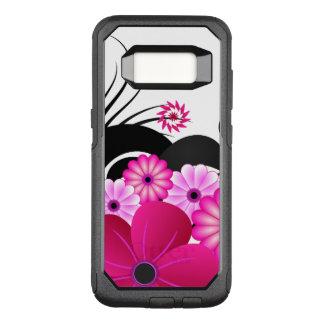 シックな赤紫のマゼンタのピンクの花のハイビスカスの花 オッターボックスコミューターSamsung GALAXY S8 ケース
