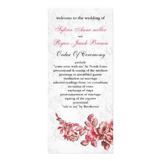 シックな赤面のピンクのヴィンテージの花の結婚式 ラックカード