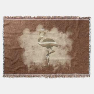 シックな金ゴールドのフラミンゴの雲のブランケット スローブランケット