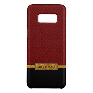 シックな金ゴールドの名前および赤いギリシャの主パターン Case-Mate SAMSUNG GALAXY S8ケース