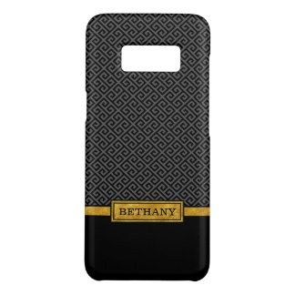 シックな金ゴールドの名前および黒いギリシャの主パターン Case-Mate SAMSUNG GALAXY S8ケース