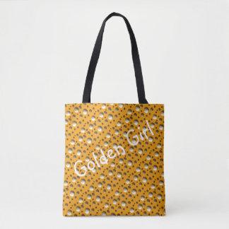 シックな金ゴールドの点はビーチかショッピングのために袋に入れます トートバッグ