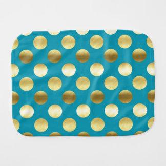 シックな金ゴールドホイルの水玉模様のターコイズ バープクロス